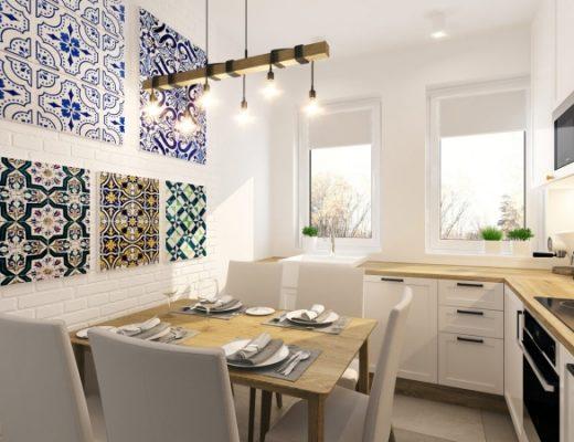 projekt wnetrza kuchni jednego z krakowskich mieszkan wykonany przez APP Proste Wnetrze