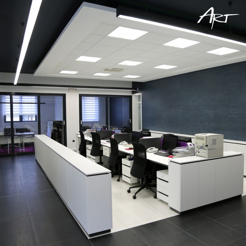 Panele LED do eleganckiego i stylowego oświetlenie biura