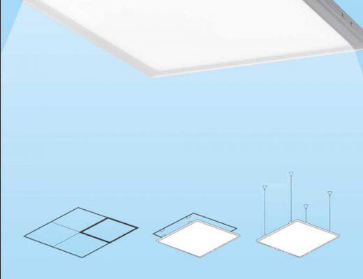 Panele LED sufitowe i ich akcesoria montażowe