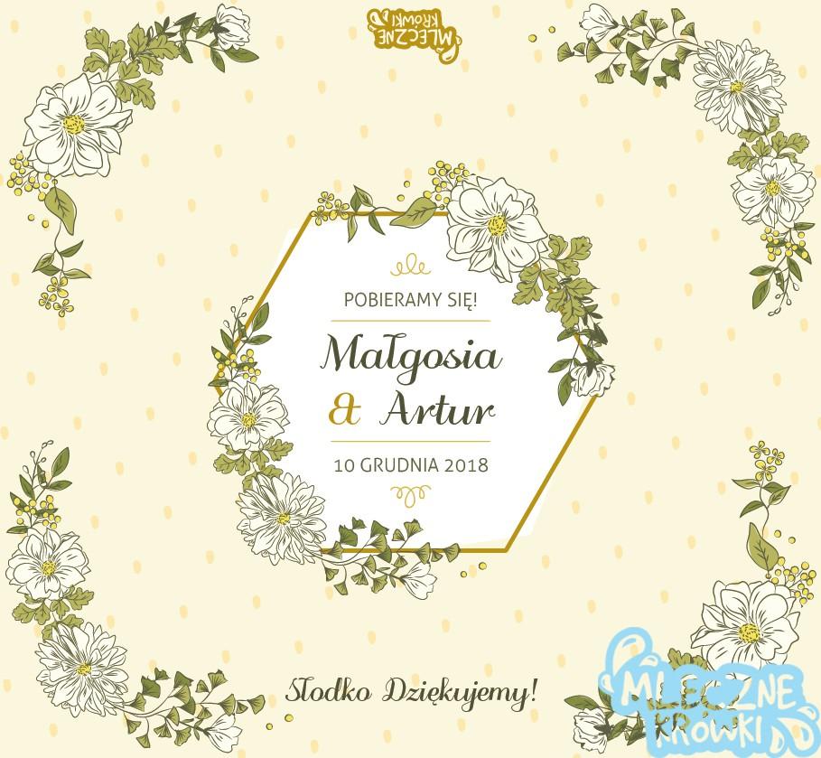 Drobiazgi dla gości weselnych – krówki na ślub